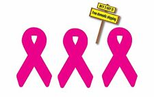 3 Pink Breast Cancer Ribbons 10% of Purchase is Donated Buy 2 Get 3 Free Ship