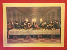 THE LAST SUPPER - FINE ART COLOR PRINT REPLICA of LITOGRAPHY WATERCOLOR 1850