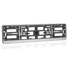 1x Silver ABS Number Plate Surround Holder Frame for all Car