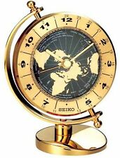 *BRAND NEW* Seiko Globe Desk Clock Watch QHG106GLH