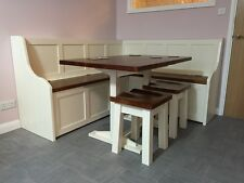 Painted Corner Dining Bench Set with Storage (MADE TO ANY SIZE)