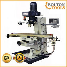 "10"" x 48"" Vertical Knee Milling Machine Mill Drill with Power Feed and DRO 440V"