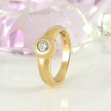 Ring in 585/- Gelbgold  mit  1 Diamanten ca  0,22 ct Wesselton P2