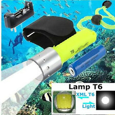 Elfeland 5000LM XM-L T6 LED Scuba Diving Flashlight Underwater 60M Waterproof