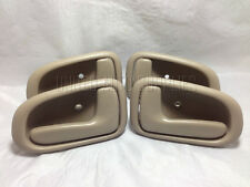 Set of 4 Inside Door Handle Tan for 93-97 Toyota Corolla