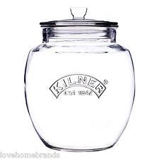 NUOVO Kilner vetro 4L Jar-PUSH Top / Cibo / CANDELA VINTAGE / ERMETICA BOMBOLETTA