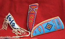 Small Beaded Leather Knife Sheath