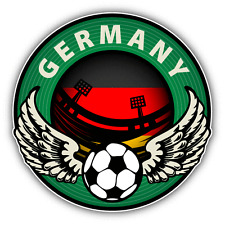 "Germany Football Sport Wing Soccer Label Car Bumper Sticker Decal 5"" x 5"""