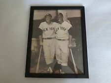MICKEY MANTLE & ROGER MARIS NEW YORK YANKEES RARE VINTAGE11 X 14 PHOTO FRAMED.
