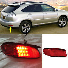 For Lexus RX330 RX350 RX400h Red Lens Rear Bumper Reflector Rear LED Fog Light