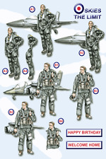 Craft UK A4 Die Cut Decoupage Sheet Line 727 - At Your Service - Air Force