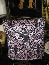 Justice Animal Print Pink and Black Sequin Sparkle Bling Backpack