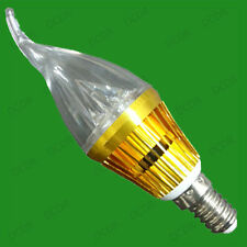 3W LED Bent Tip Clear Candle Light Bulbs, SES, Small Edison Screw, E14 Lamps