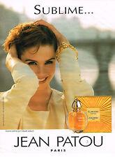PUBLICITE  1993   JEAN PATOU    instant SUBLIME parfum par claude lelouch