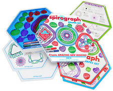 SPIROGRAPH SHAPES kit Case Kahootz Super Design Set Toy Heart Star Triangle Ring