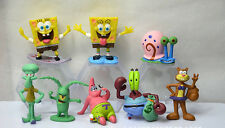 8pcs SpongeBob Square Pants Set Action Figurines Birthday Cake Topper