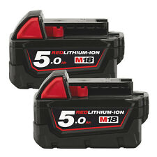 2x Milwaukee M18B5 18v 5.0Ah Li-ion Replacement Lithium Replace Battery