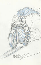 Jose Luis Garcia Lopez Original Batman Art Sketch ~ Batgirl on Batcycle