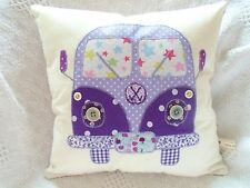 VW CAMPERVAN Cushion Kit Cath Kidston Vintage Retro Purple Fabric Sewintocrafts!
