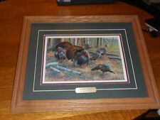 Spring Strut  by CYNTHIE FISHER - Turkeys Strutting for Hens- Matted and Framed