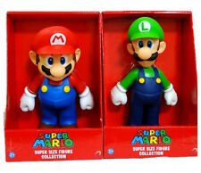 2 LARGE SUPER MARIO BRO & LUIGI GAME ACTION FIGURE FIGURINES KIDS TOY GIFTS