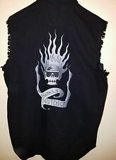 Harley Davidson Skull Fire Men's M Cut Off Sleeveless Biker Motorcycle Black