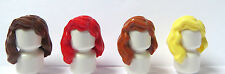 LEGO 4 Girl Female Hair Wig For Minifigures  Wavy Red Blonde Brown Ginger