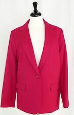 Pendleton Pink Wool Career Jacket Blazer 1 Button Notch Collar Womens 16