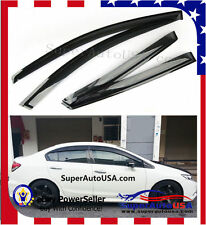 JDM OE Style Window Vent Visors Sun Rain Wind Deflectors Fit Honda Civic12-15