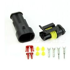 1 set 2 Pin Way Waterproof Electrical Wire Connector Plug Car Motorcyle Truck