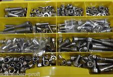 400 Teile Edelstahl Innensechskant Schrauben Muttern Scheiben BOX M8 Din 912