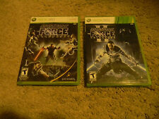 STAR WARS UNLEASHED 1 & 2, XBOX 360, COMPLETE, 2-DISC SET