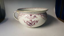 Purple transfer printed vintage Victorian antique potty chamber pot / planter