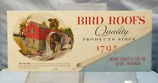 Vintage Advertising Ink Blotter: BIRD ROOFS.... Beloit Lumber & Fuel Company