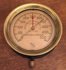 Antique Ashcroft Industrial Pressure Gauge Brass Steampunk Vintage