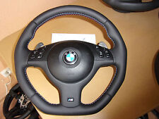 BMW M3 E46 SMG paddle shift complete steering wheel OEM flat bottom & sides NEW