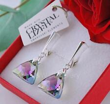 EARRINGS SWAROVSKI Elements XILION TRIANGLE PARADISE SHINE Sterling silver 925