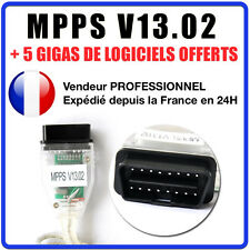 ★ CABLE MPPS V13.02 + V16 - REPROGRAMMATION CALCULATEUR ECU OBD ★