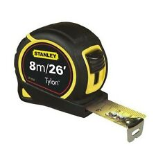 Stanley Tylon Pocket Tape Measure Tape Metre Blade 25mm 8M/26Ft Rubber Grip New