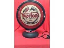 NEW Petrol Bowser Globe and Base Norton illuminated sign