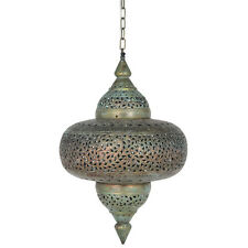 Moroccan Antique Style Distressed Brass Electric Ceiling Light Beautiful Quality