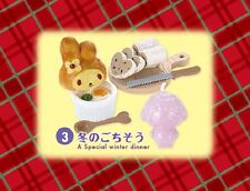 Re-ment Miniature Sanrio My Melody Winter Vacation Set # 3 Winter Dinner