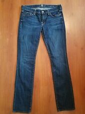 7 For All Mankind Straight leg Jeans size 29 x 32 LONG Thin Dark Stretch