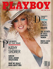 PLAYBOY JUNE 1986-A - PMOY KATHY SHOWER - LINDA EVANS NUDE !!!