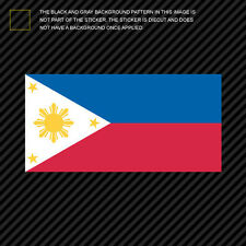 "4"" Filipino Flag Sticker Die Cut Decal philippines pinoy star sun"