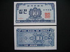 SOUTH KOREA  10 Jeon 1962  (P28a)  UNC