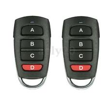 2pcs Universal 4 Button Cloning 433mhz Electric Garage Gate Door Remote Control