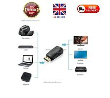 HDMI Male To VGA Female 1080p Video Converter Adapter + 3.5mm Audio Cable Black
