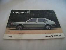 Volvo 340/360 Car Owners Handbook –  Ref 1171