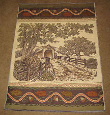Acorn Gap Covered Bridge Crafters Tapestry Wall Hanging Fabric Remnant